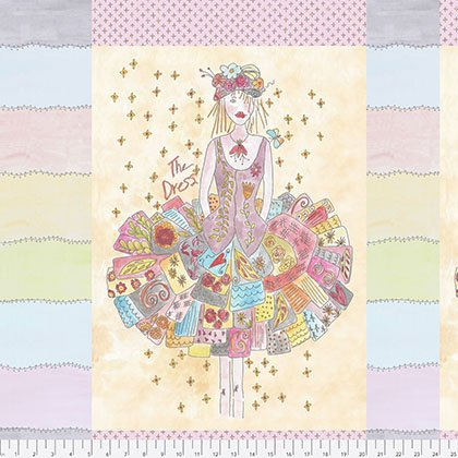 PWLH001 The Dress Panel-Multi by Laura Heine for Free Spirit Fabrics 100% cotton 44 wide