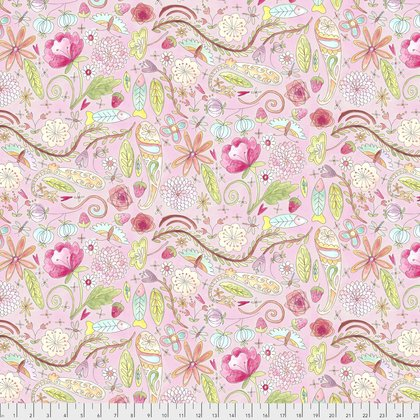 PWLH002 The Dress-Garden-Pink by Laura Heine for Free Spirit Fabrics 100% cotton 44 wide