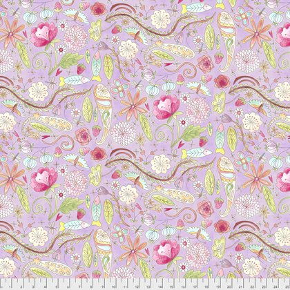 PWLH002 The Dress-Garden-Purple by Laura Heine for Free Spirit Fabrics 100% cotton 44 wide