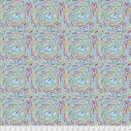 PWLH003 The Dress-Fern-Aqua by Laura Heine for Free Spirit Fabrics 100% cotton 44 wide