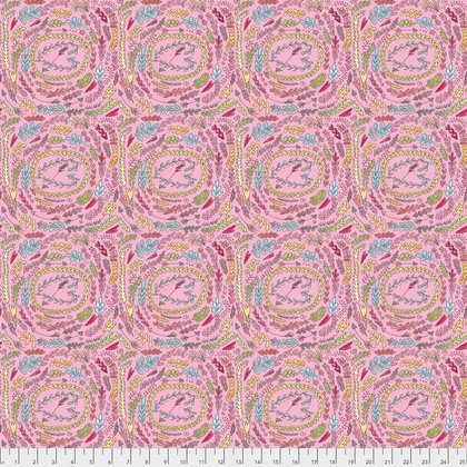 PWLH003 The Dress-Fern-Pink by Laura Heine for Free Spirit Fabrics 100% cotton 44 wide