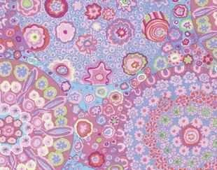 PWGP092 PINK Millefiore from Classics by Kaffe Fassett for FreeSpirit Fabrics. 100% cotton 43 wide