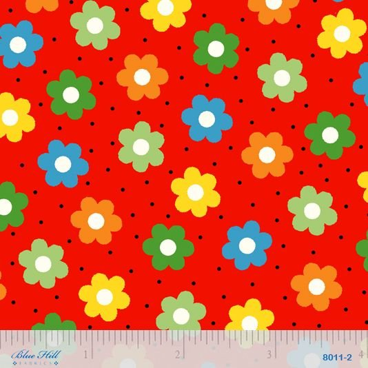 8011 002 Holly's Dolls by Sara Morgan for Blue Hill Fabrics