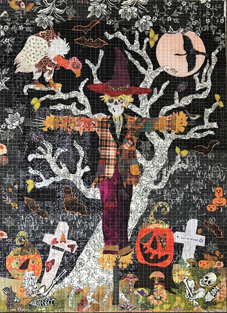 Scarecrow Collage Quilt Pattern by Laura Heine.