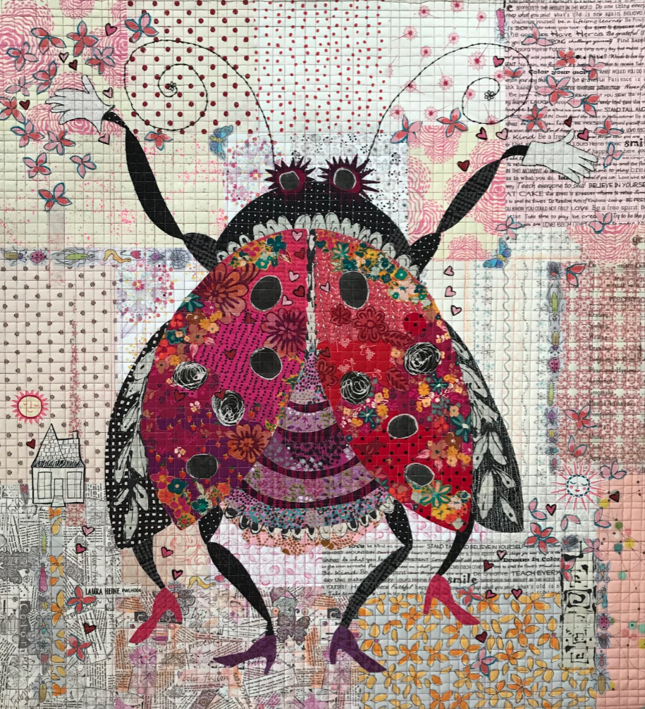 Scarlett Collage Quilt Kit by Laura Heine