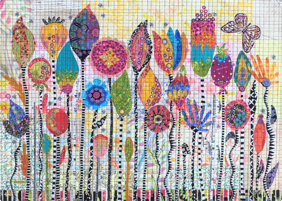 Seed Pods Collage Quilt Kit by Laura Heine. PRE-ORDER ONLY
