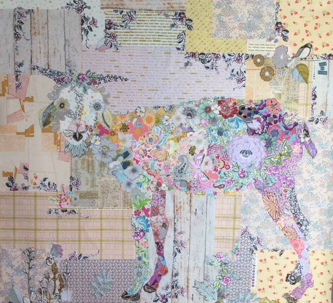 Billie Goat Collage Kit by Laura Heine