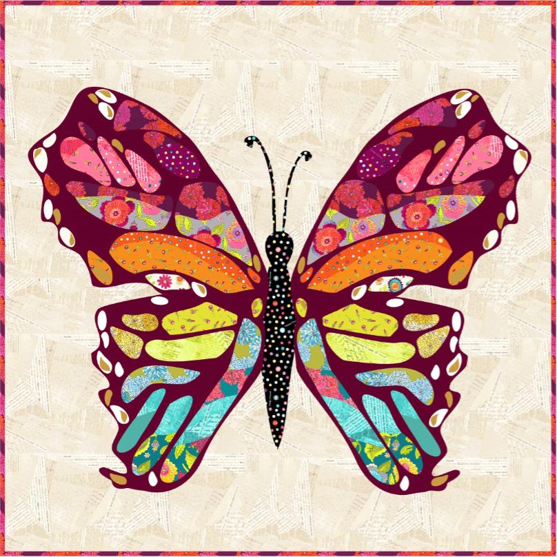 Take Flight Collage Quilt Kit by Laura Heine.  PRE-ORDER