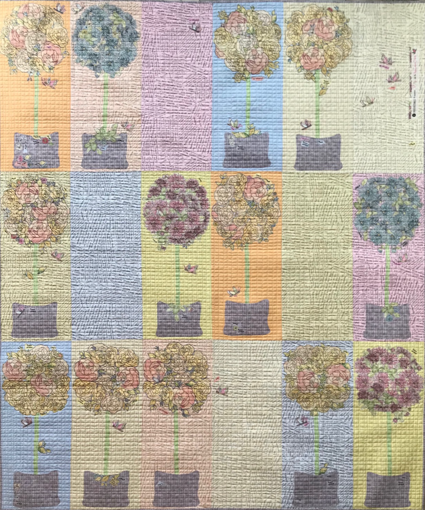 Topiary Collage Quilt Kit by Laura Heine