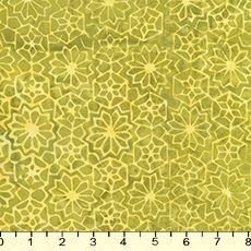 B4438 Lime Succulents Batik from Tonga Lagoon for Timeless Treas