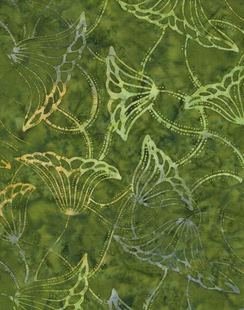 B8410 Green Tonga Batik by Timeless Treasures