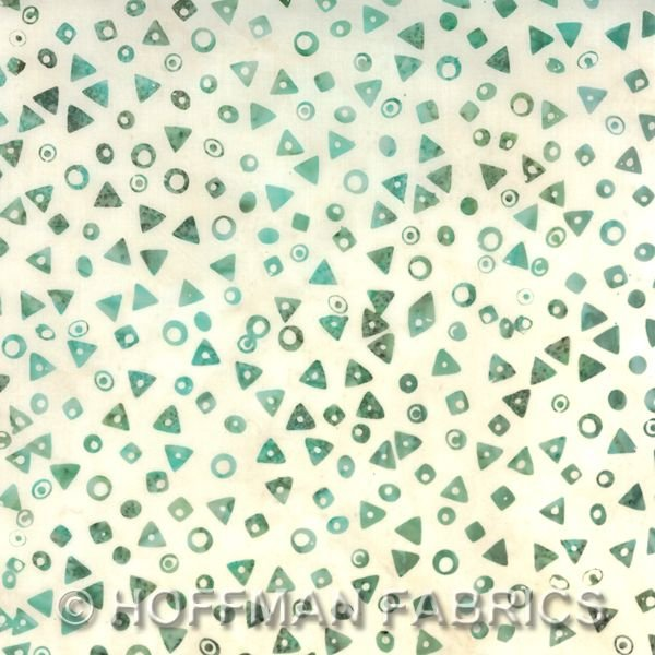 K2447 536 Triangles Aquarius Bali Chop for Hoffman Fabrics