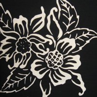 Batik-Bali Fabrics-PI 3 10 c Black White