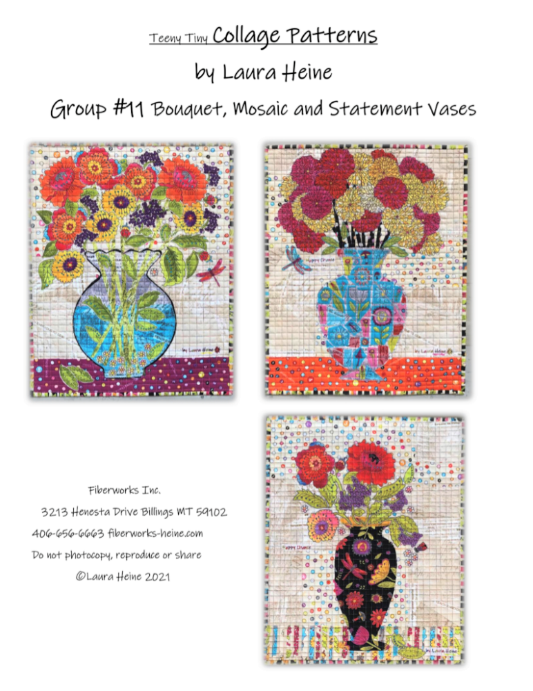 Teeny Tiny Collage PATTERN Group #11 Mosaic, Statement, Bouquet  PRE-ORDER ONLY