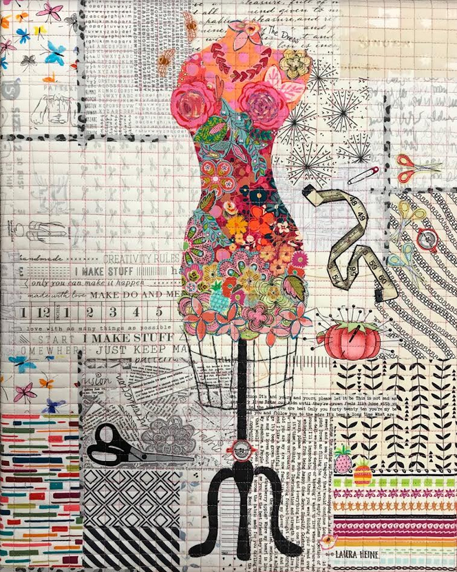 Teeny Tiny #5 Collage Kit Dress Form  by Laura Heine