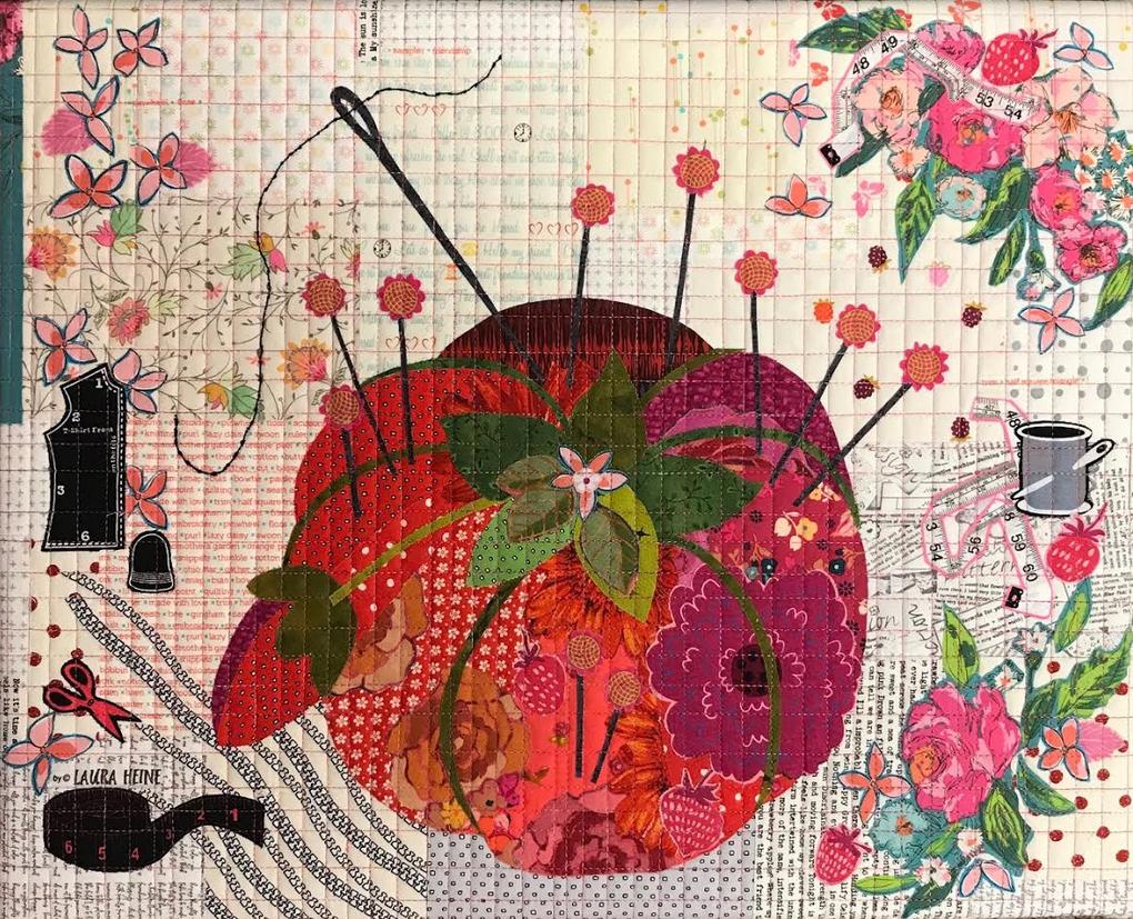 Teeny Tiny #5 Collage Kit Pincushion by Laura Heine