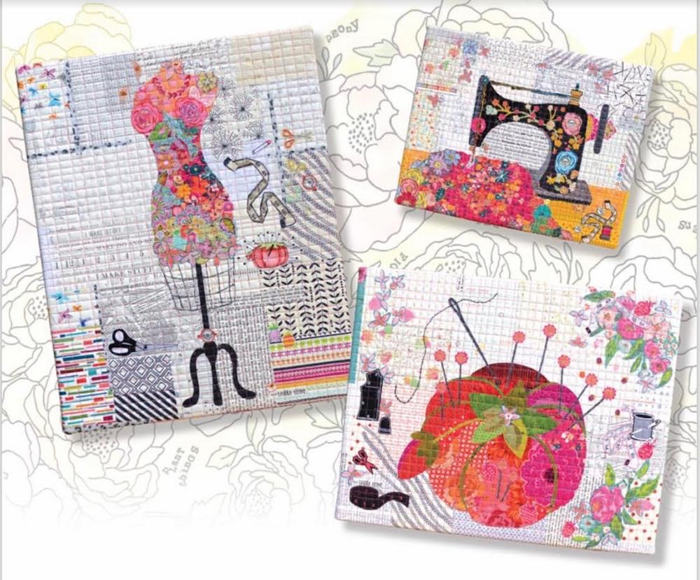 Teeny Tiny Collage PATTERN Group #5 Pincushion Dress Form Sewing Machine