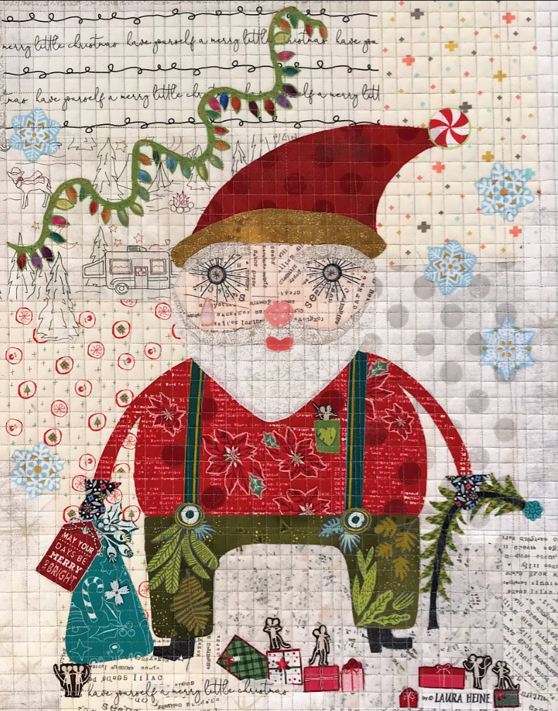 Teeny Tiny #10 Collage Kit Santa by Laura Heine