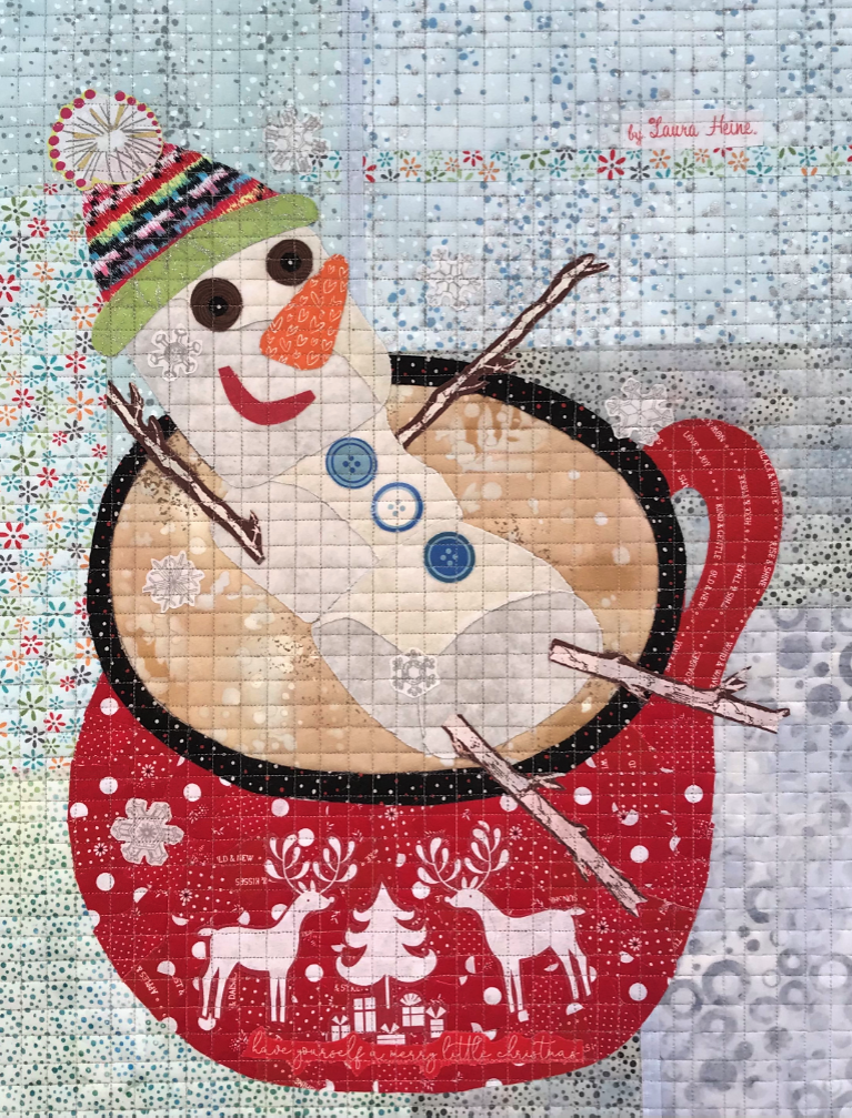 Teeny Tiny #10 Collage Kit Snowman by Laura Heine.