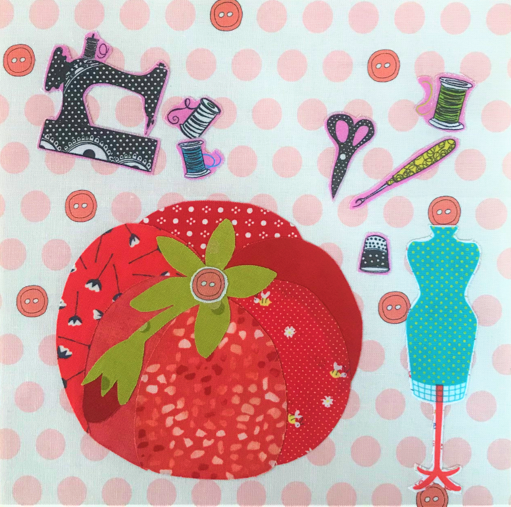 Whatevers! #31 Pincushion 8 inch Block Collage Kit and Pattern by Laura Heine