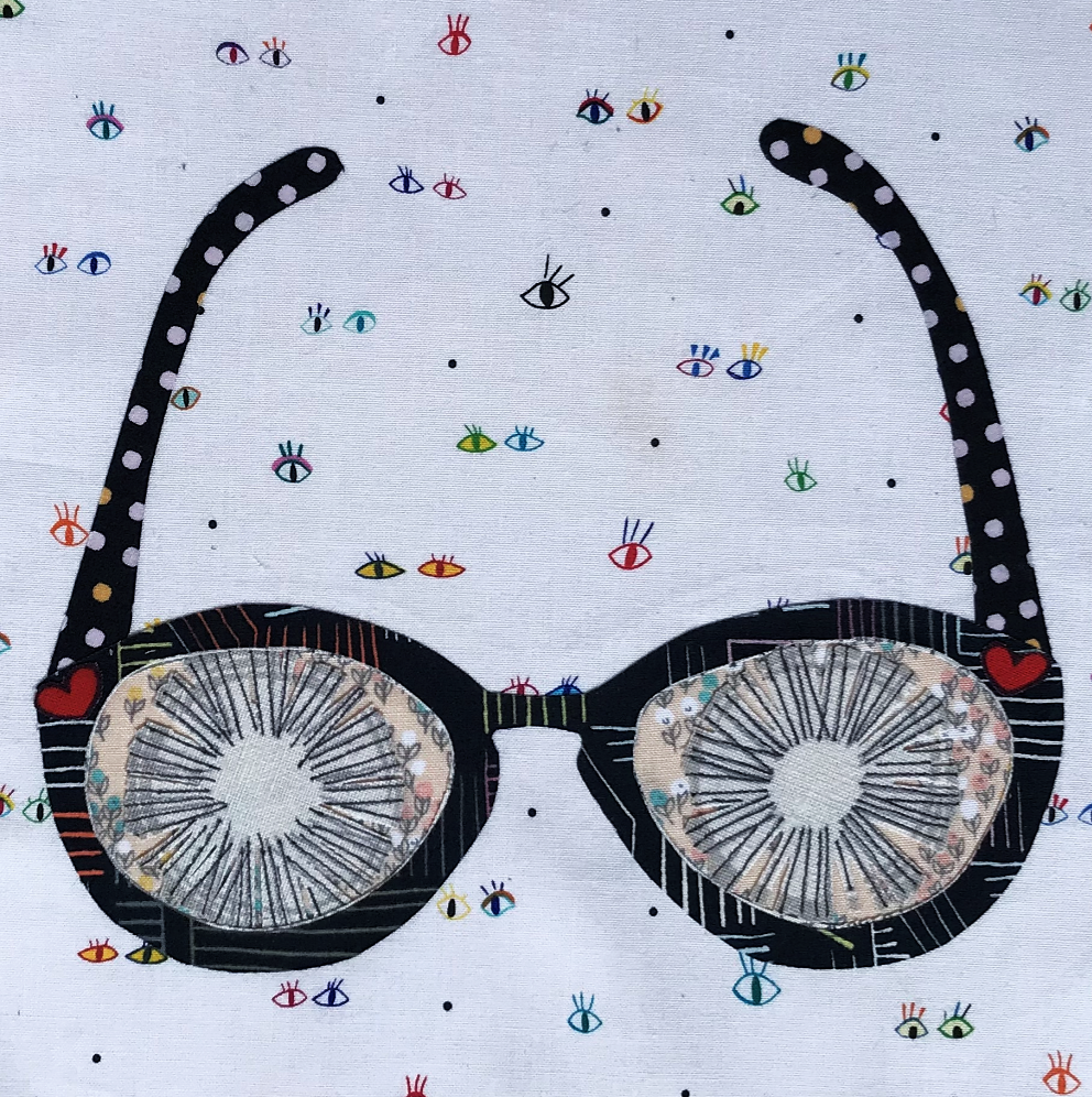 Whatevers! #33 Glasses 8 inch Block Collage Pattern Only by Laura Heine