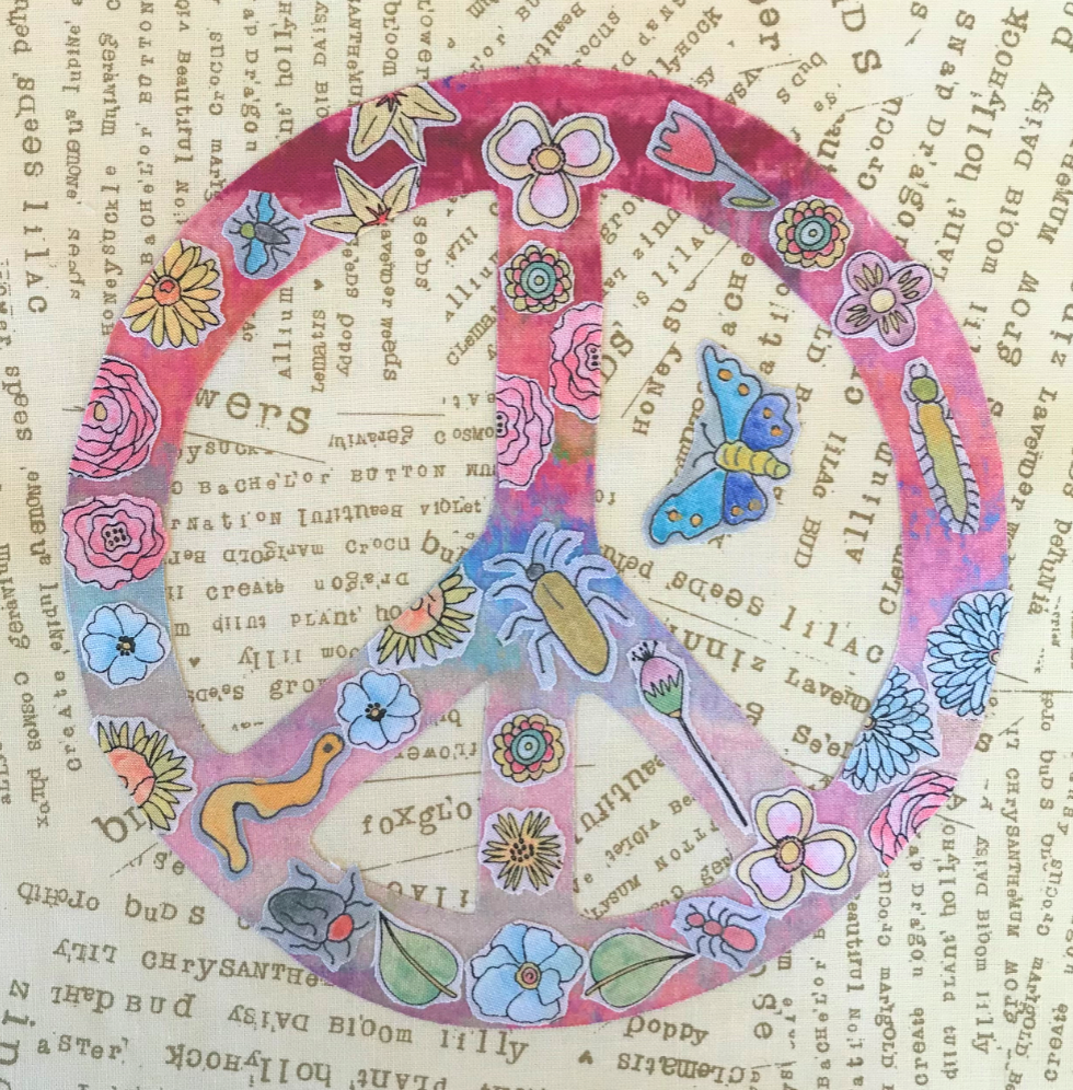 Whatevers! #38 Peace 8 inch Block Collage Pattern Only by Laura Heine
