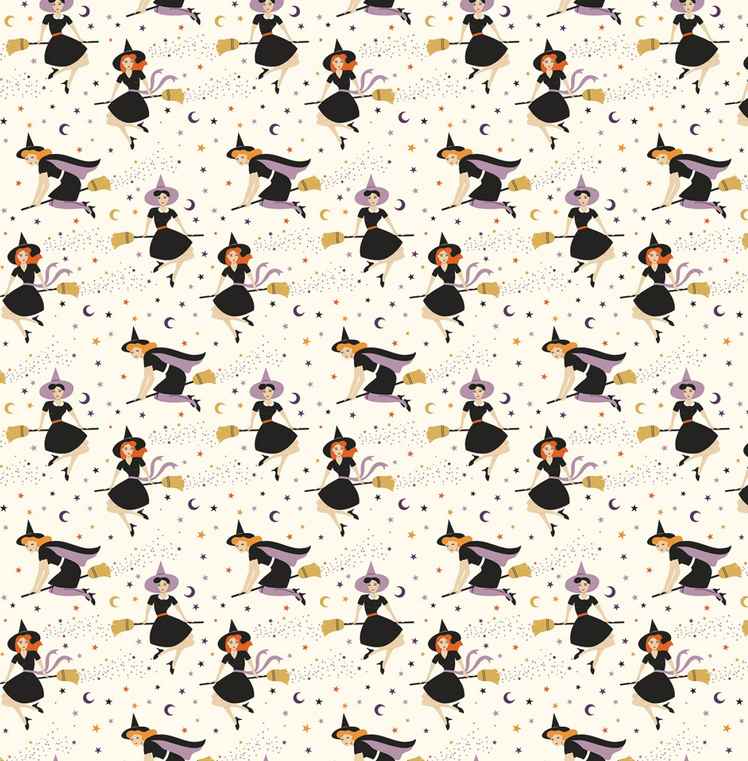 C8171 Fab-boo-lous Witches  by Dani Mogstad for Riley Blake Designs. 100% cotton 43 wide