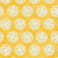 00445 Daisy Array Sunshine and Shadows Collection for Adorn it Fabrics 100% cotton 44 wide