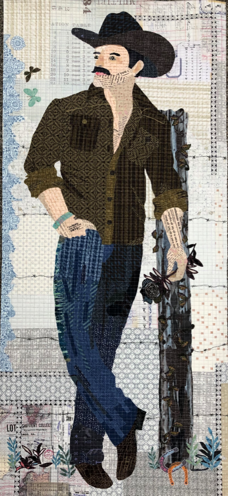 Yes Ma'am! Collage Quilt Kit by Laura Heine