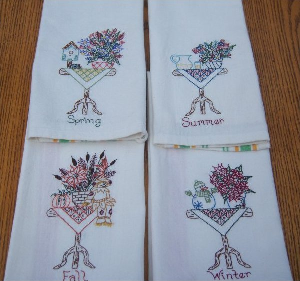 The Kitchen Table Tea Towel Pattern