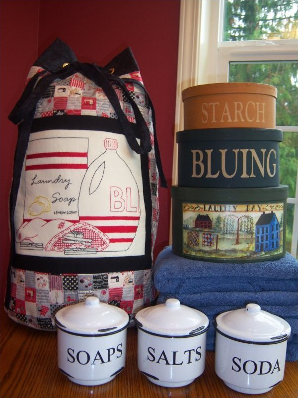 Laundry Room Laundry Tote Bags Pattern