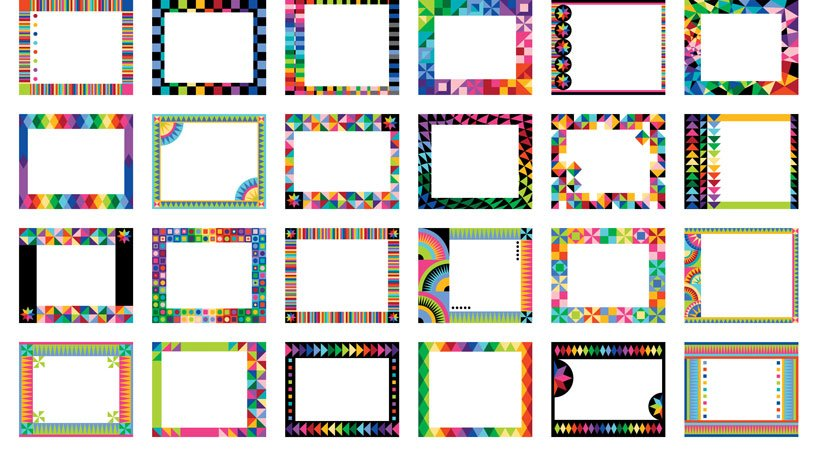 Colorworks Labels Panel - Bright Multi color Labels