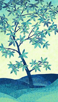 Shimmer Tree Blue Lagoon Panel