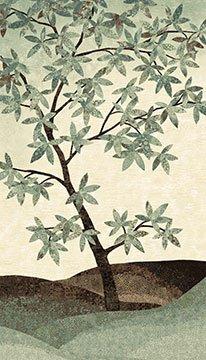 Shimmer Tree Earth Panel