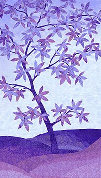 Shimmer Tree Pansy Panel