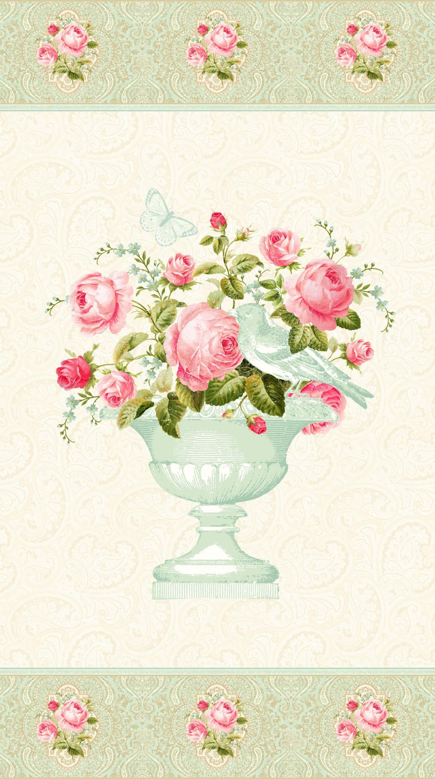 Hopelessly Romantic Rose Vase Panel