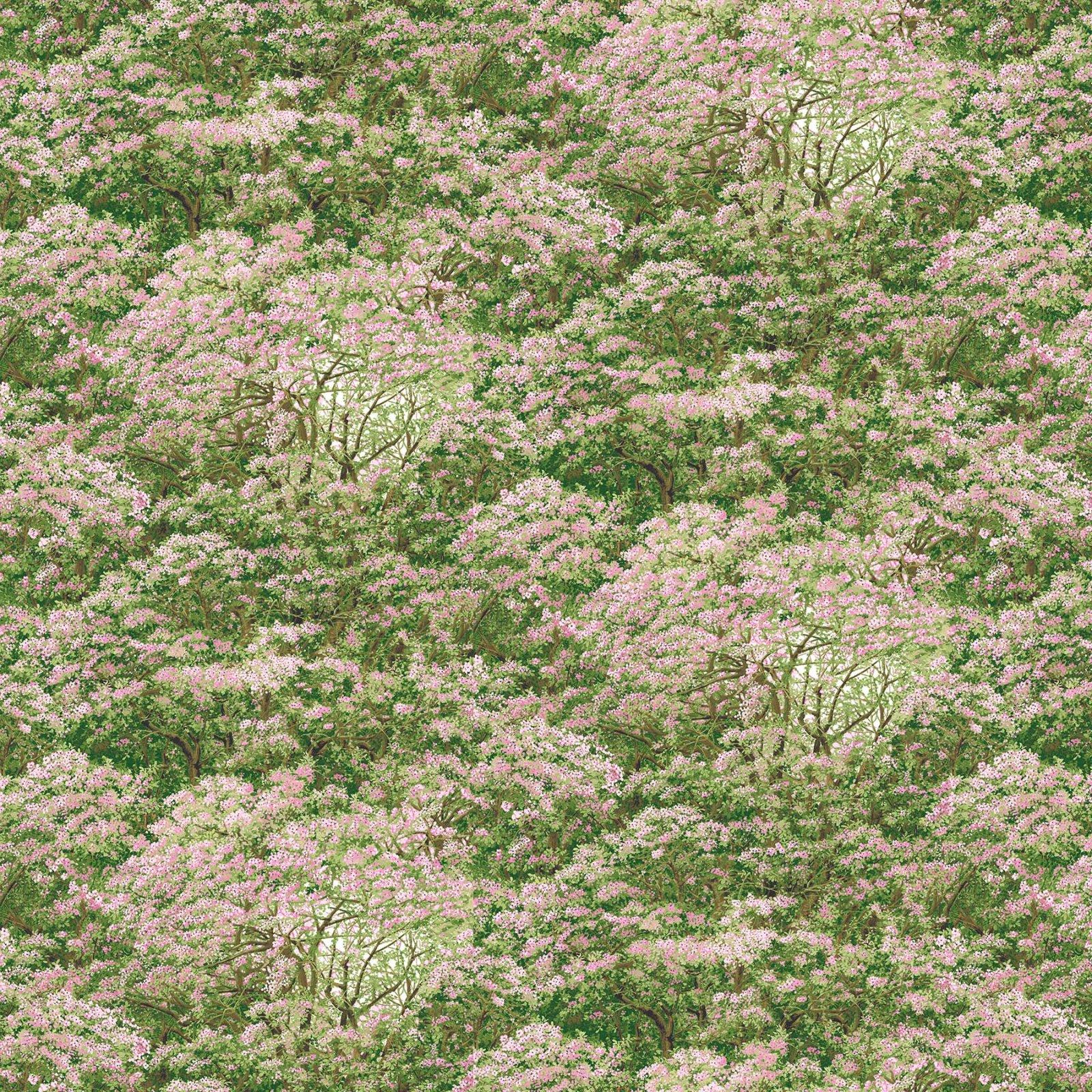 Abundant Garden- Pink/Green