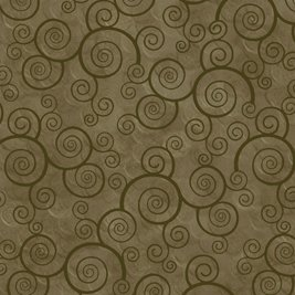 Harmony Cotton Scrolls in Moss