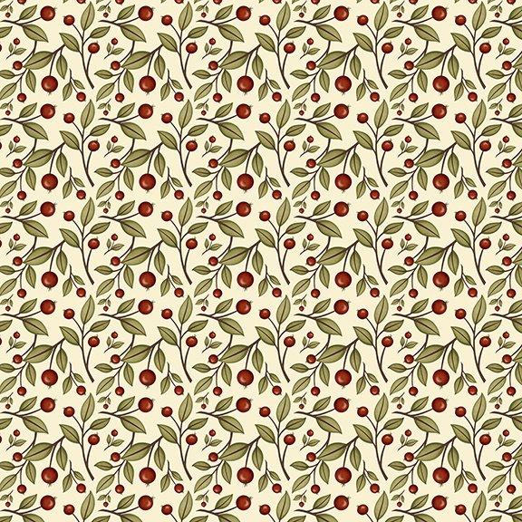 Harvest Greetings- Cream Leaf Berry