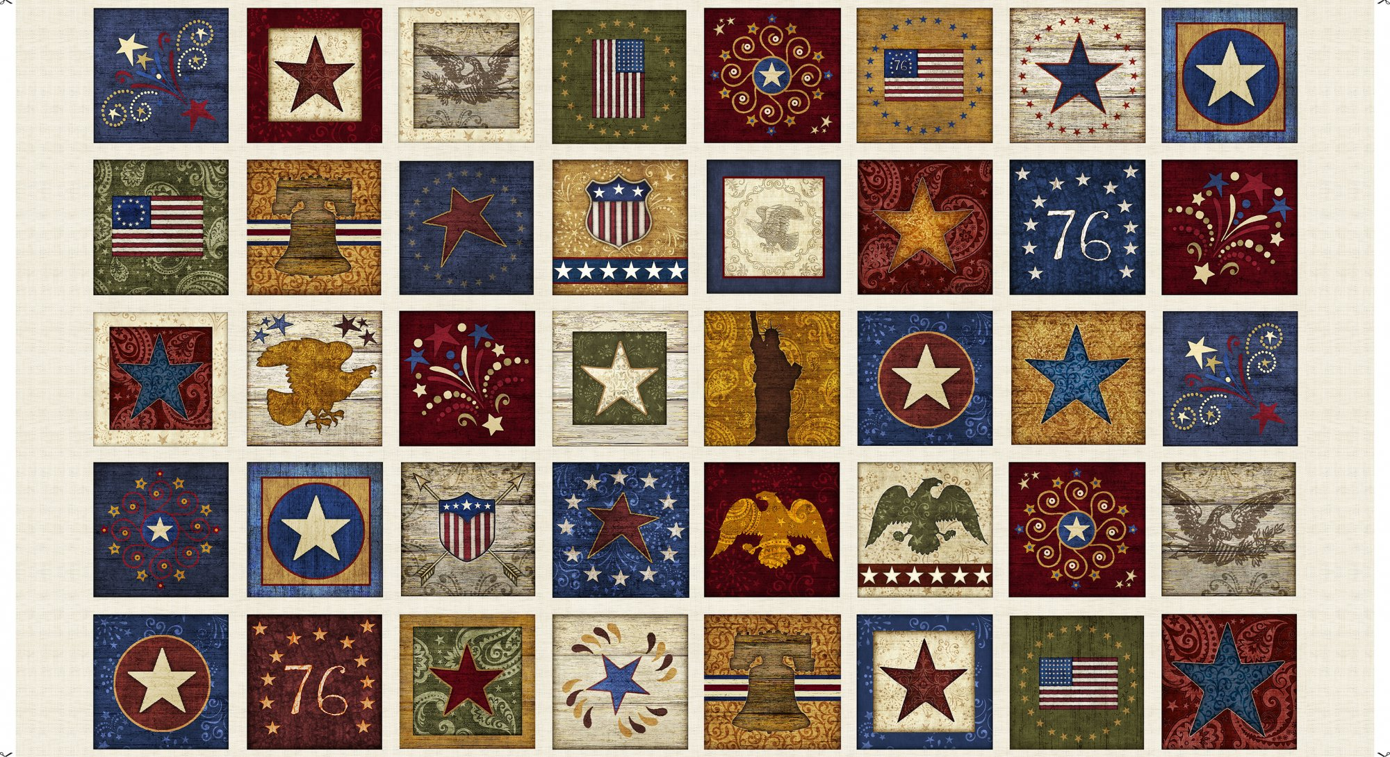 Stars & Stripes Forever - Patriotic Patches Panel
