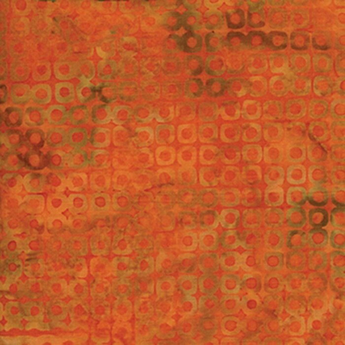Equinox - Orange & Coral Circle Squares