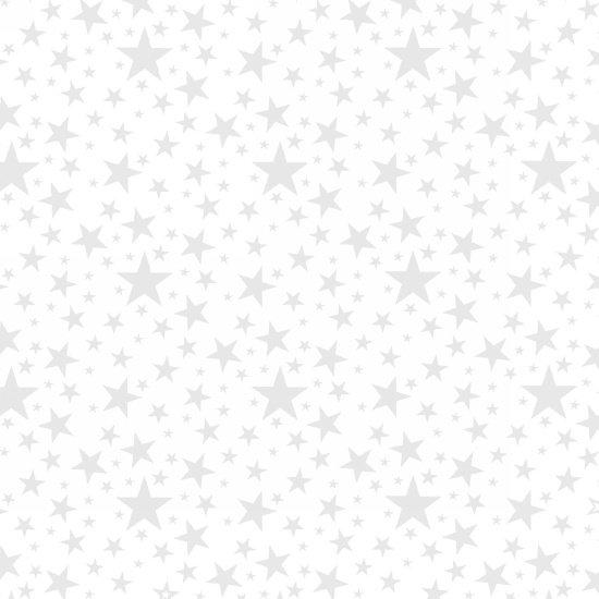 Morning Mist III - White on White Stars