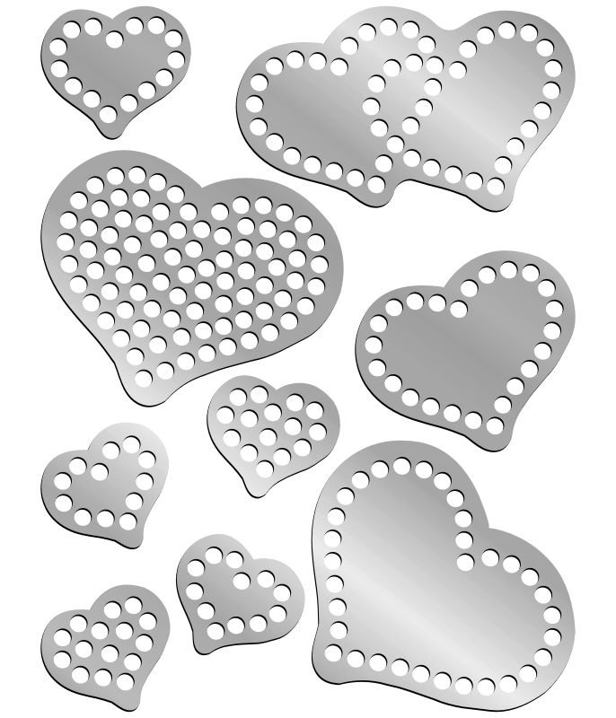 Rhinestone Template - Small Hearts Pack
