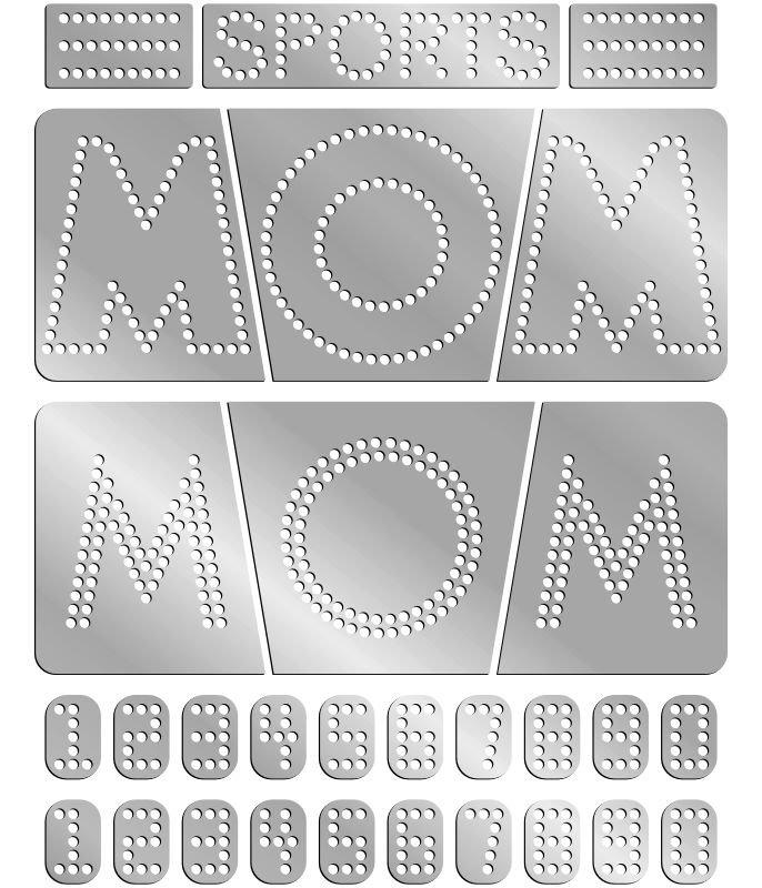 Rhinestone Template - Sports Mom
