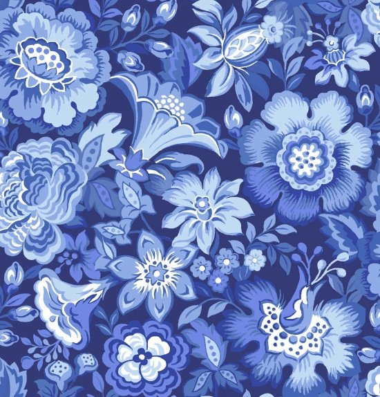 Floral Packed in Blue