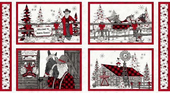 Western Greetings Placemat Panels