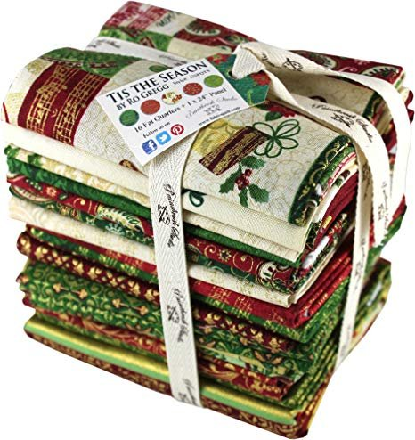 Tis the Season - 16 Precut Fat Quarters and 1 Panel
