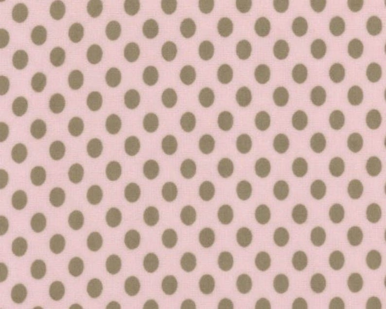 Flannel-Pink with Brown Dots
