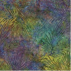 Batik Blue Tossed Coral