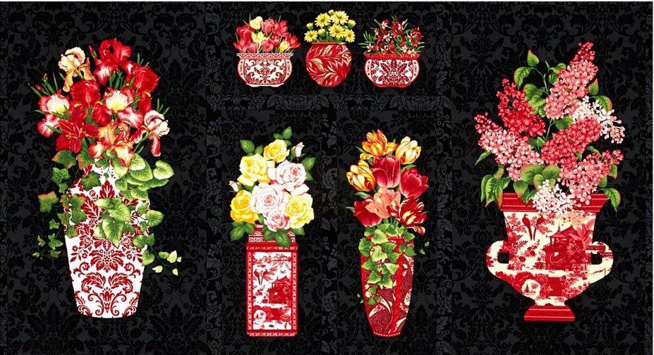 Botanical III Red Vases
